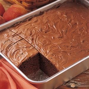 Classic Chocolate Cake Recipe -This recipe appeared on a can of Hershey's Cocoa way back in 1943. I tried it, my boys liked it and I've been making it ever since. I make all my cakes from scratch, and this is one of the best! —Betty Follas, Morgan Hill, California