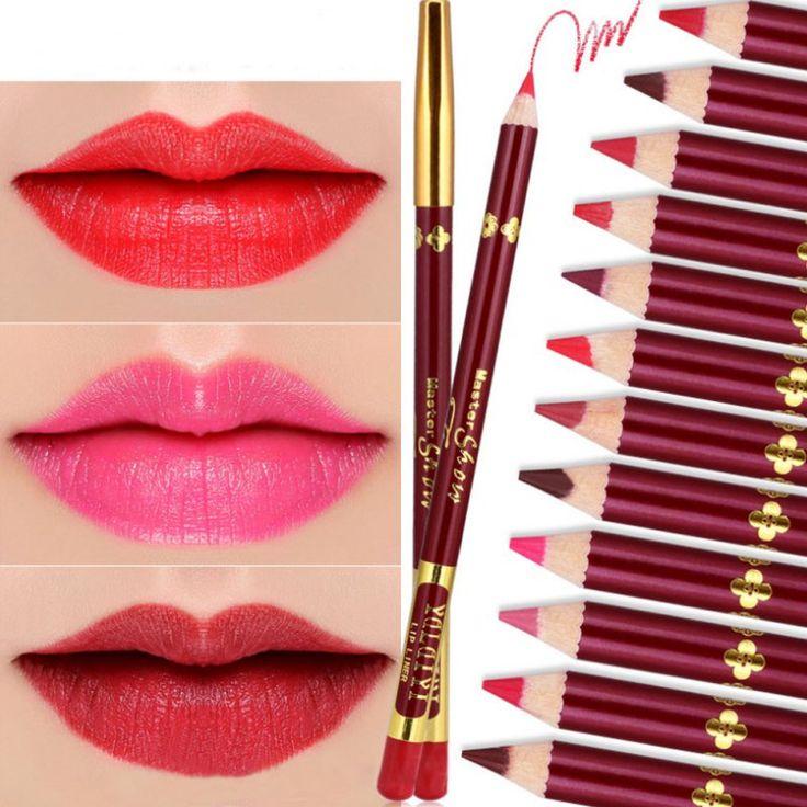 12 pcs/set Matte Velvet Lipstick Pencil Nude Waterproof Pencil Batom Crayon Long Lasting #Affiliate