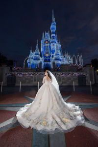 Disney Weddings | You Have to See This Magical Disney's Fairy Tale Wedding Portrait Session