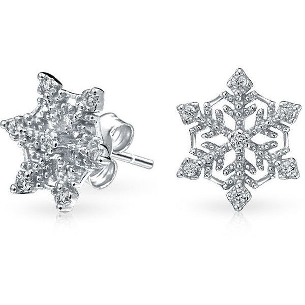 Bling Jewelry Ice Queen Studs (£18) ❤ liked on Polyvore featuring jewelry, earrings, clear, stud-earrings, snowflake jewelry, studded jewelry, stud earrings, stud earring set e christmas earrings