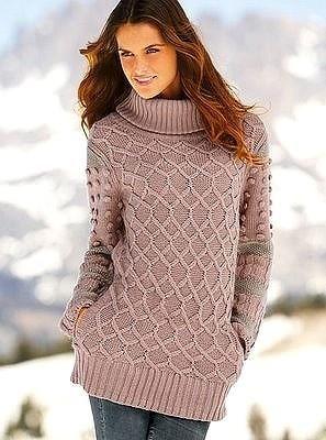 Где купить вязанный длинный свитер