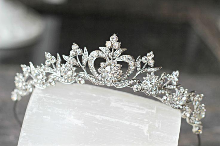 Bridal Tiara Crystal Heart Tiara - DIANA, Swarovski Bridal Tiara, Crystal Wedding Crown, Rhinestone Tiara, Wedding Tiara, Diamante Crown by EdenLuxeBridal on Etsy https://www.etsy.com/listing/151673745/bridal-tiara-crystal-heart-tiara-diana