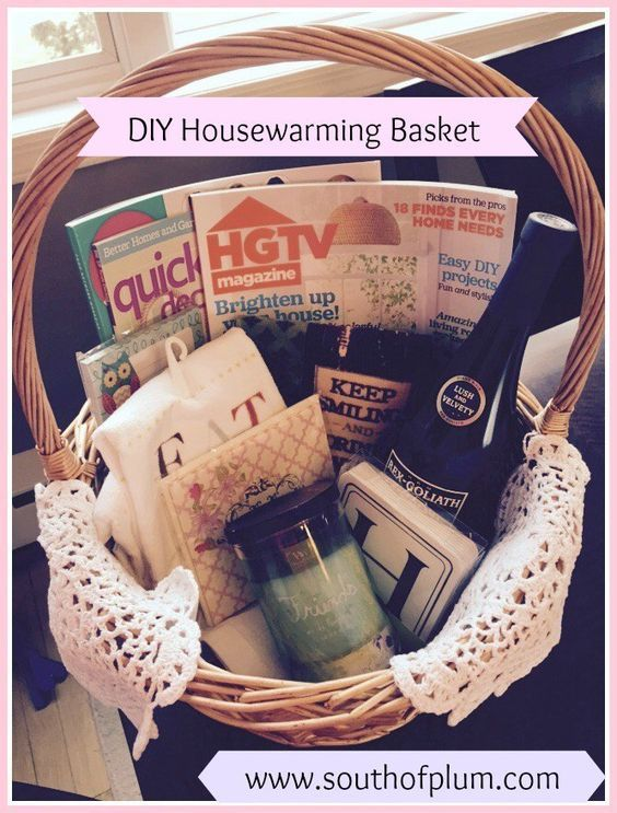 Diy Housewarming Basket Great Gift For The New Homeowner