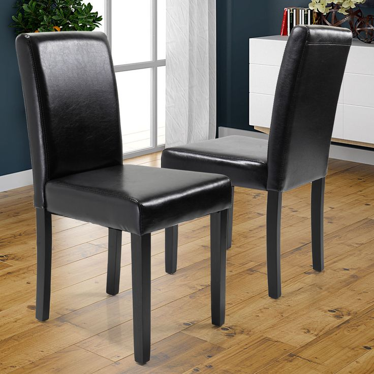 Item specifics     Condition:        New: A brand-new, unused, unopened, undamaged item in its original packaging (where packaging is    ... - #Furniture https://lastreviews.net/home/furniture/set-of-2-elegant-modern-design-dining-chairs-home-room-black-leather-chair/