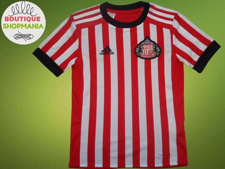 SUNDERLAND HOME 2017-2018 Boys 7/8 AGE ADIDAS FOOTBALL SHIRT Jersey Camisa  #ADIDAS #SUNDERLAND