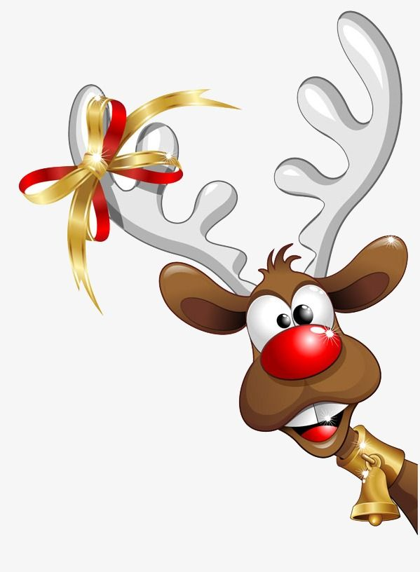 Christmas Reindeer, Christmas, Reindeer, Cartoon PNG Transparent Clipart Image and PSD File for Free Download