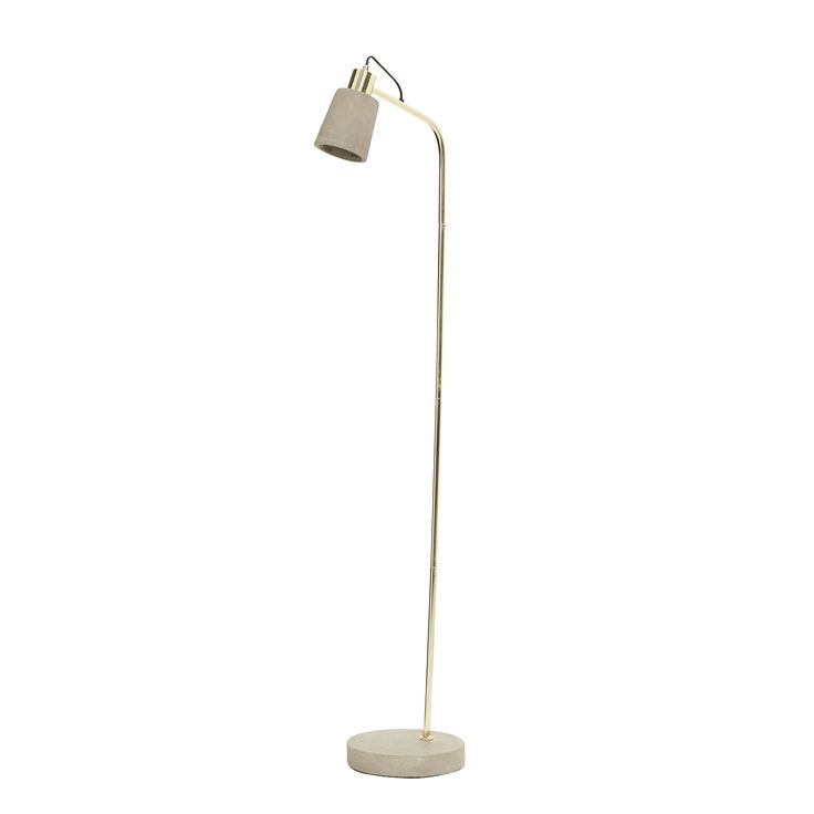 Floor lamp in Brass and concrete. Product number: 370216 - Designed by Hübsch