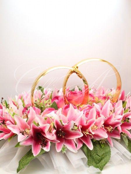 Свадебные кольца на машину Gilliann розовые лилии CAR022, http://www.wedstyle.su/katalog/katalog/ukrashenija-na-mashinu/kolca-na-mashinu/svadebnye-kolca-na-mashinu-gilliann-6213, http://www.wedstyle.su/katalog/katalog/ukrashenija-na-mashinu/kolca-na-mashinu, wedding ideas, wedding decoration on car