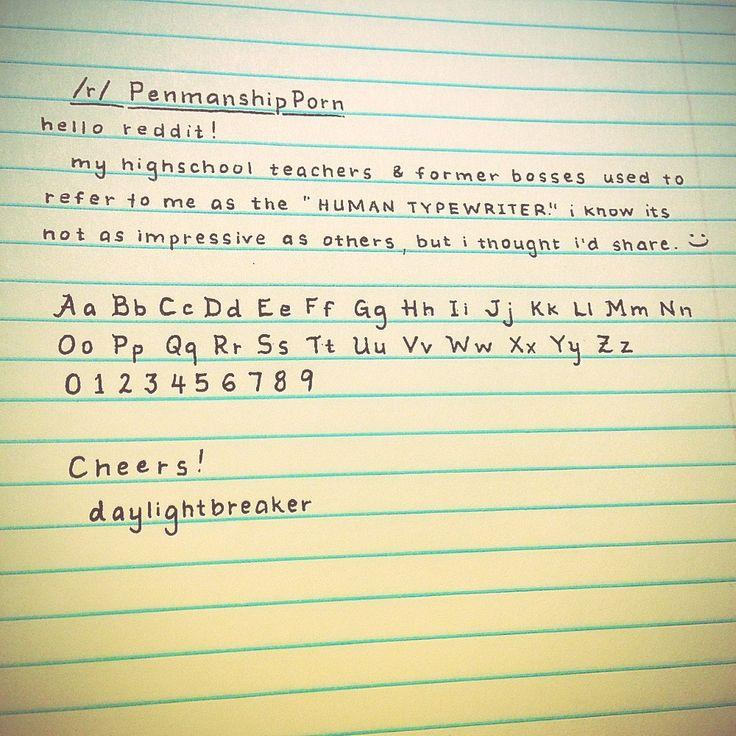 Print Example: How Do I Make My Handwriting This Neat?