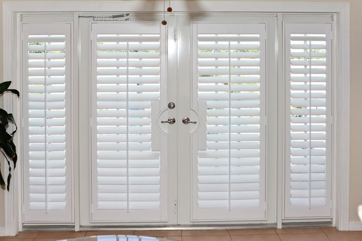 Plantation Shutters On Doors Blinds Pinterest Plantation Shutter French And Canvases