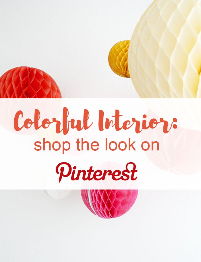 Find colorful interior items on Pinterest