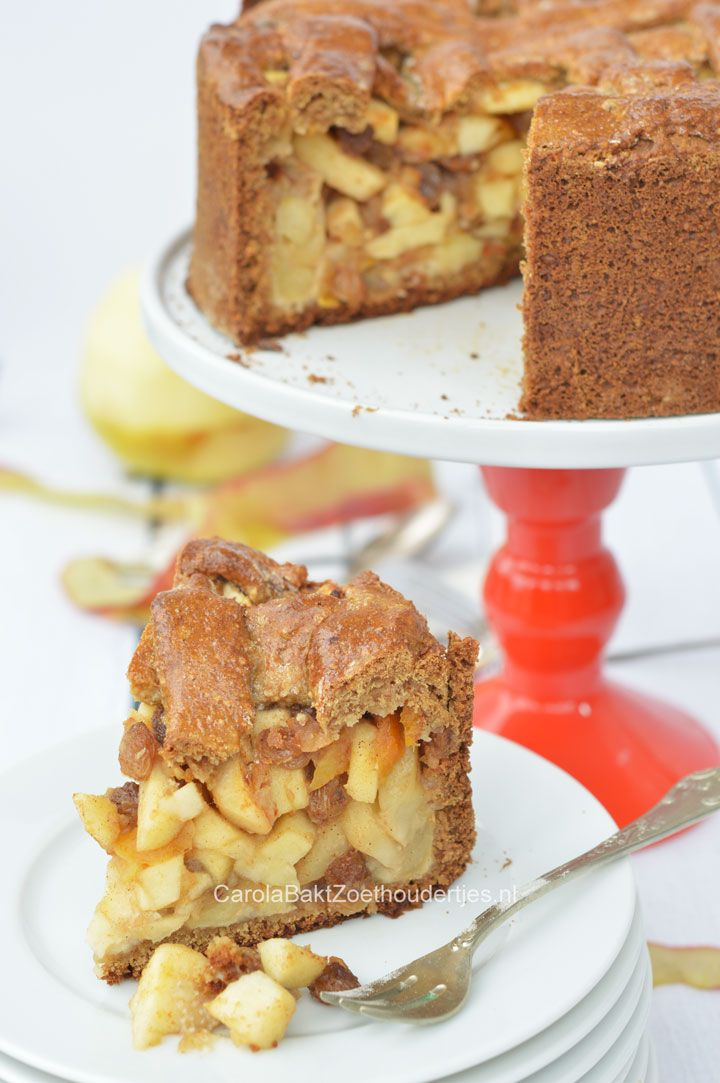 Healthy Applepie, a recipe of Rens Kroes. Gezonde appeltaart a la Rens Kroes