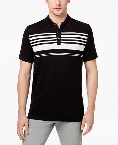 Michael Kors Men s Stripe Tile-Jacquard Mercerized Pima Cotton Polo f2ffa7dead