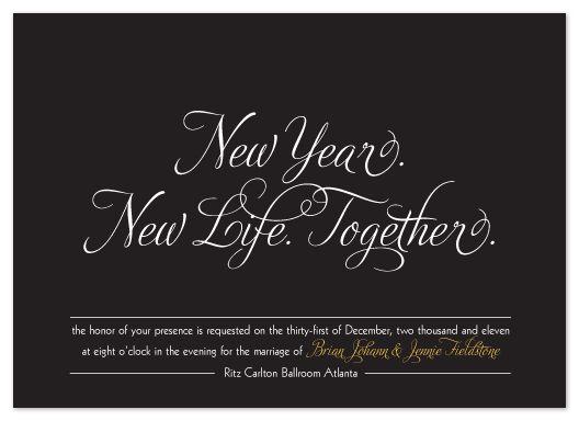 wedding invitations - New Year. New Life. Together. by Sara Heilwagen