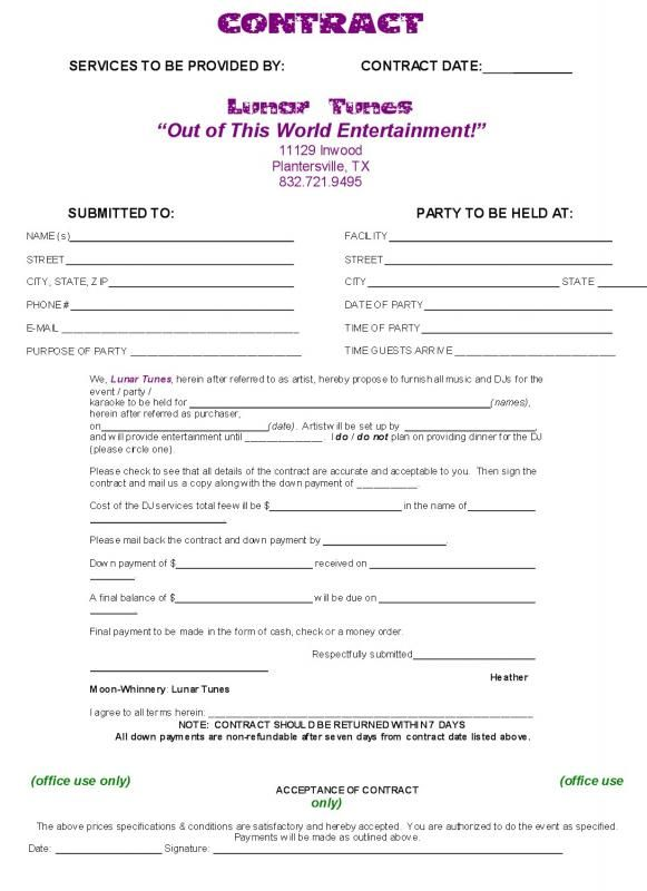 Wedding Venue Contract template Pinterest Wedding venues - e resume builder