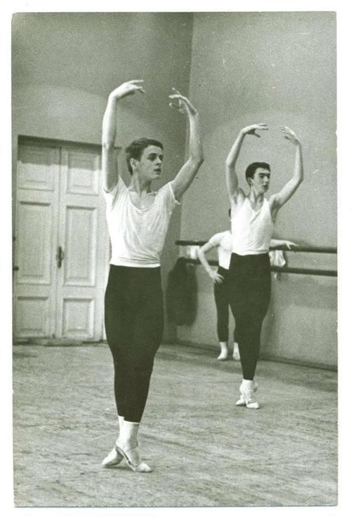 Mikhail Baryshnikov during his student days at the Vaganova Ballet Academy, circa 1962.