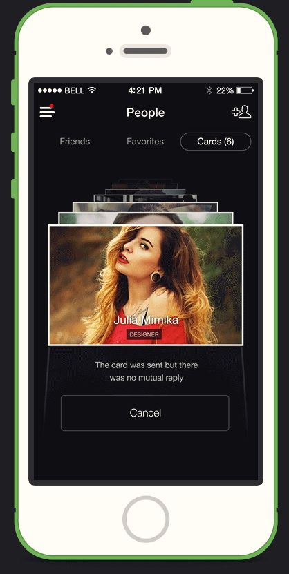 Like Project – iPhone social app (animation) by Chapps , via Behance