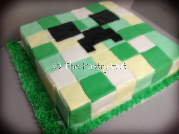 Minecraft video game cake www.facebook.com/thepastryhut