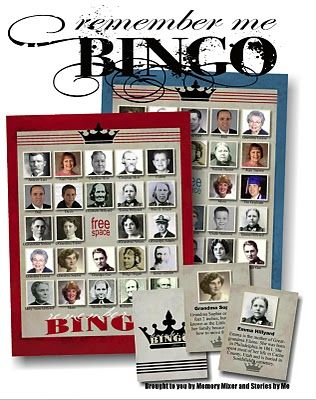 Stories by Me!: Remember Me Bingo. What a fun site! Fun for a Family Reunion too.