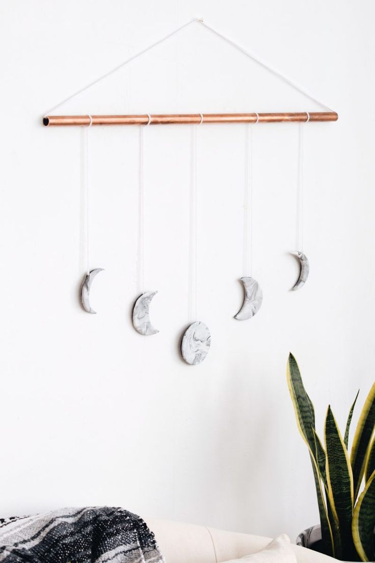 Magic Moon Phase Marble Wall Hanging