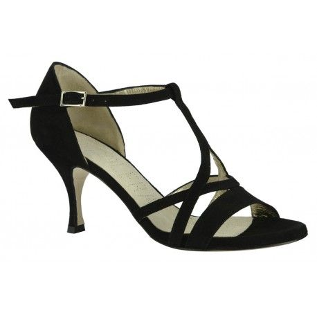 Entirely made with black suede, black suede-covered heel, leather outsole.