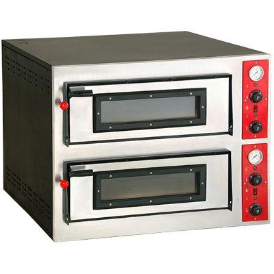 Horno eléctrico doble 6 + 6 pizzas pro Worldmai