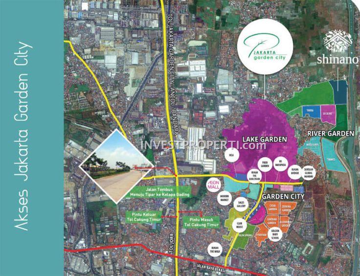 Lokasi cluster Shinano Jakarta Garden City #aksesjgc #lokasiclustershinano #jakartagardencity