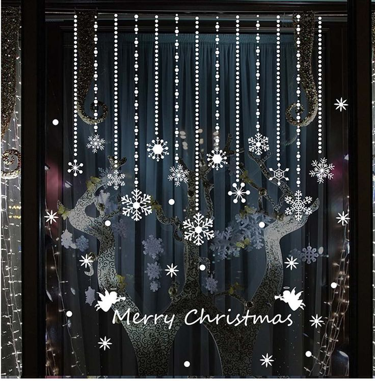 Unique Christmas Window Stickers Ideas On Pinterest Window - Window stickers for home uk