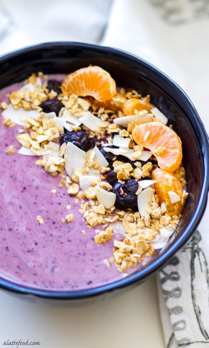 This sweet blueberry orange coconut smoothie bowl is perfect for breakfast, brunch, or afternoon snack. It's pretty much a bowl of Heaven. Plus, it's dairy-free, gluten-free, and vegan!