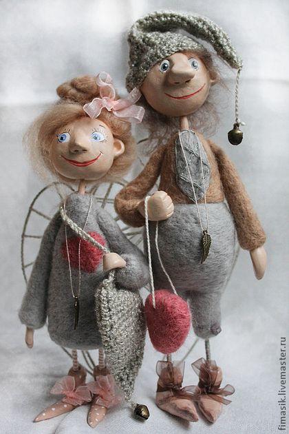 Человечки ручной работы. Ярмарка Мастеров - ручная работа Поль и Полли. Handmade.