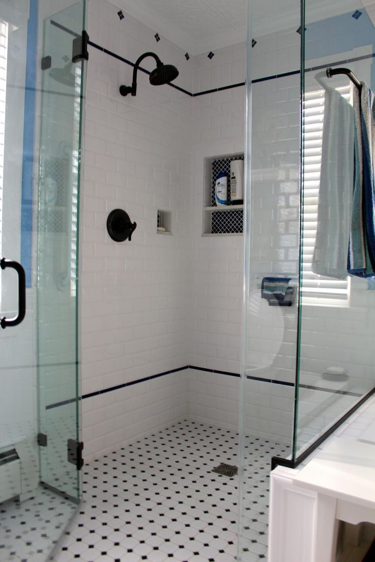 Vintage black and white bathroom ideas - Find This Pin And More On Black And White Tile Patterns For Vintage Bath
