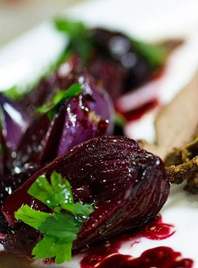 Roast Balsamic Beetroot and Onion - i am obsessed by this