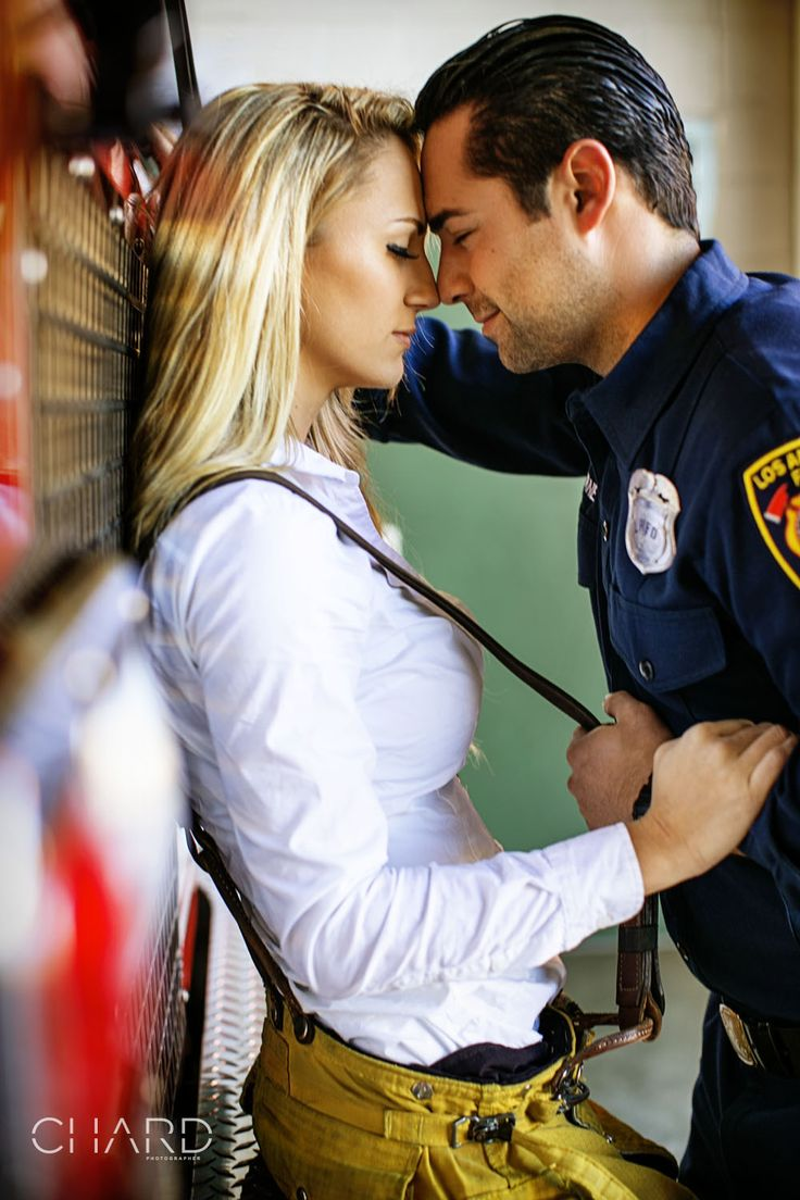 Check out Chelsea and Dave's HOT firefighter themed engagement session! ENJOY!