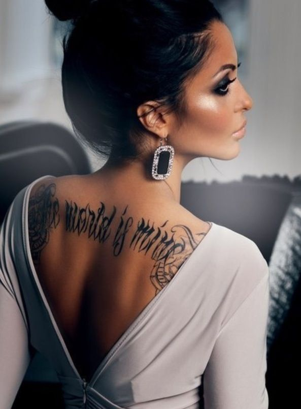 The world is mine old English tattoo #swag #pretty #classy #edge