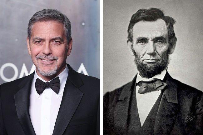 Джордж Клуни и Авраам Линкольн родственники