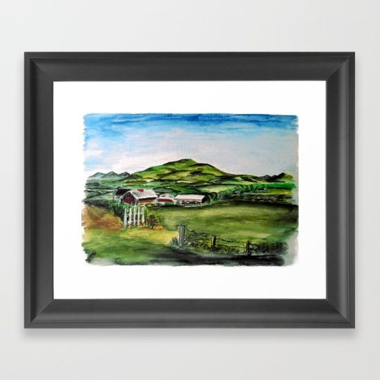 'Old Farm' - Watercolour-pencil painting of an old farm in Ireland. Art prints available from @society6   Original painting is for sale, size A4.  Contact artist here or on Facebook for details  https://www.facebook.com/hoganfinland/   #frame #Society6 #gallery #fineart #print #artprint #custom #framedart #art #prints #wallart #ireland #farm #thegreengreengrassofhome #field #hills #irish #irishscenes #landscape #irishlandscape #paintingthenation