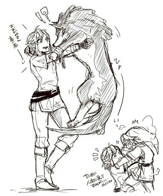 Zelda comic - Wolf Link and Link | Breath of the Wild and Twilight Princess
