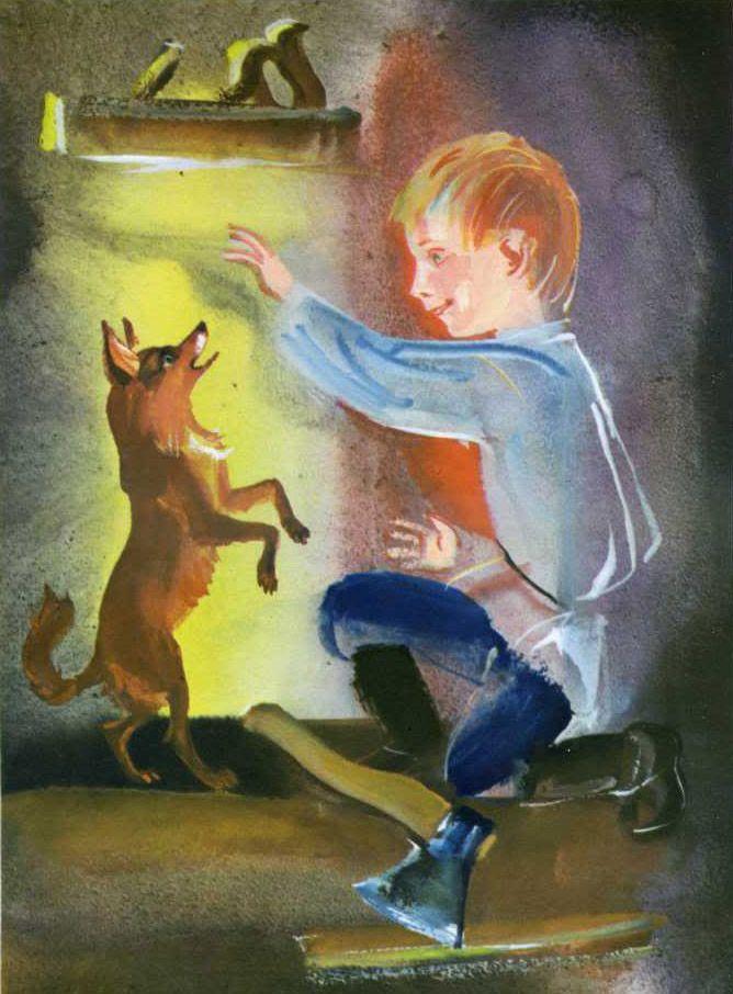 лучшие рисунки к книге каштанка его семье, помимо