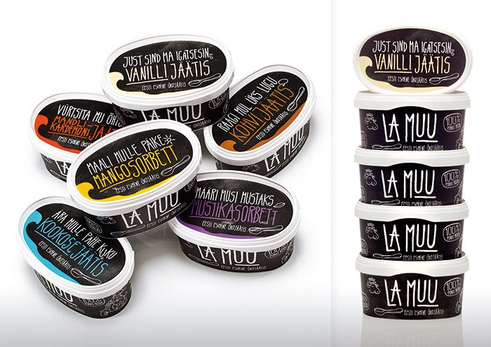La Muu Ice Cream - The Dieline -