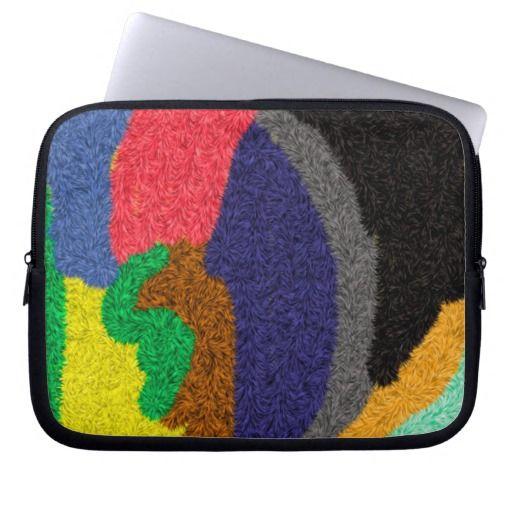 Random colored pattern laptop sleeves
