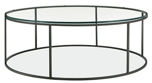 Tyne Round Cocktail Tables in Natural Steel - Modern Cocktail & Coffee Tables - Modern Living Room Furniture - Room & Board
