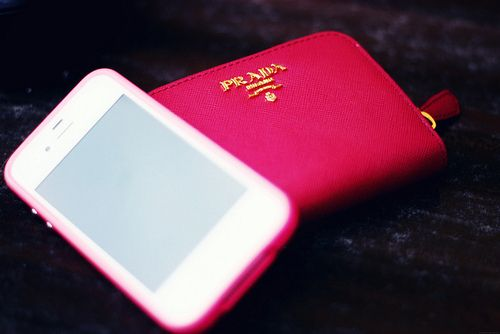 pink love and phone case