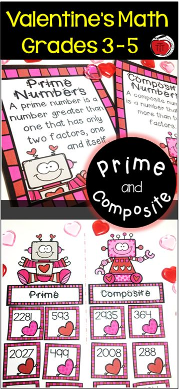 Are you looking for an engaging way to have your students practice prime and composite numbers? These Valentine's Day Math centers are fun for your Grade 3 - 5 students. LOW PREP and colorful!  Created by TchrBrowne / Terri's Teaching Treasures