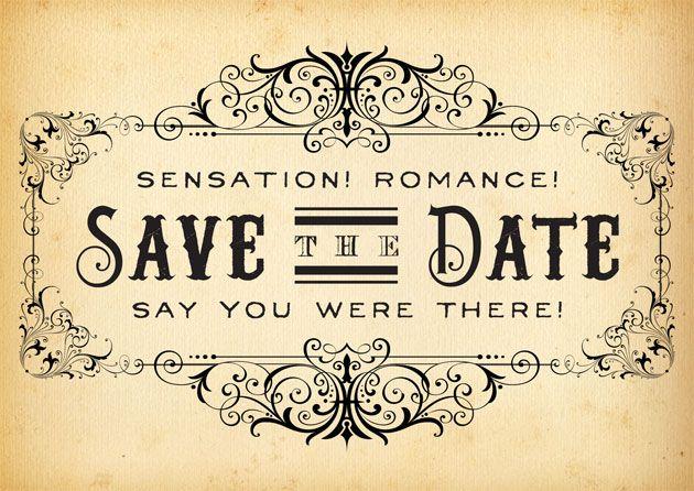 Save The Date By Royal Steamline · Beautiful Wedding InvitationsWedding  StationaryCircus WeddingSteampunk ...