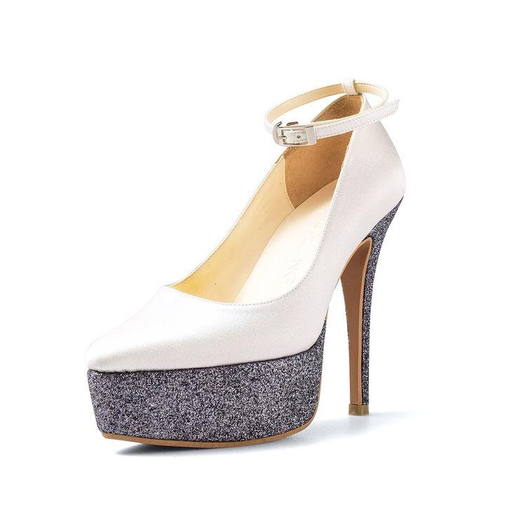 Navy Blue Glitter Shoe Laces