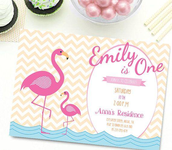 Flamingo Invitation  Let's Flamingle Invitation by CutePaperStudio