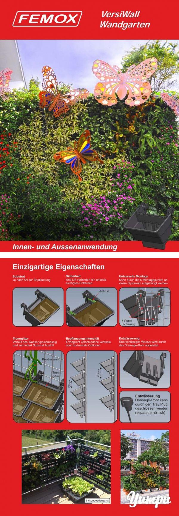 Fancy femox versiwall wandgarten galabau produkte de Magazine with pages Versiwall Wandgarten