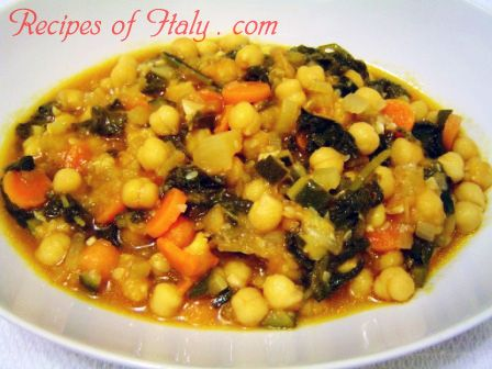 Traditional Italian Chickpea Vegetable Soup (Minestra di Ceci e Verdure) | Enjoy this authentic Italian recipe from our kitchen to yours. Buon Appetito!