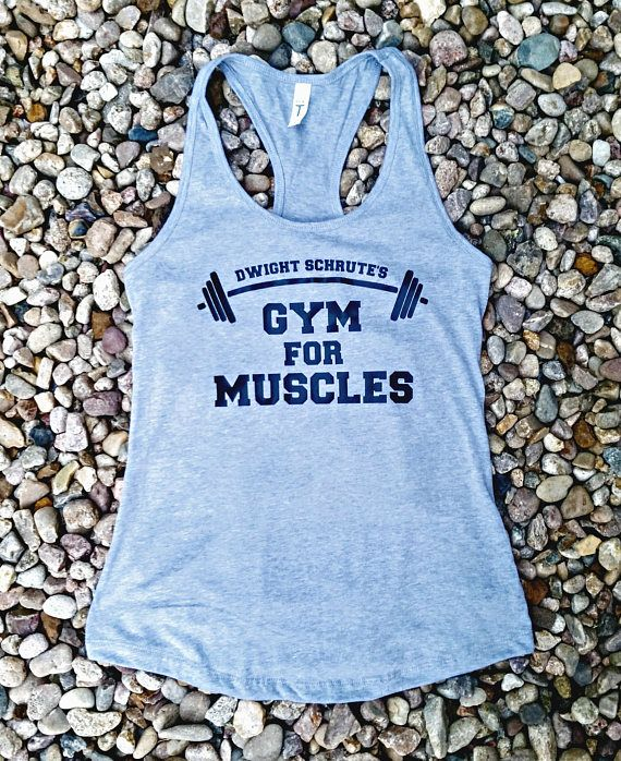 Dwight Schrute the office gift. Dwight Schrute gym for muscles tank top From The Office Women  girl tank top shirt