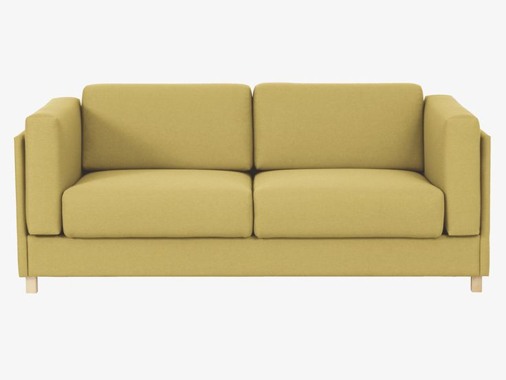 Colombo Yellow Fabric Saffron Yellow Fabric 3 Seater Sofa